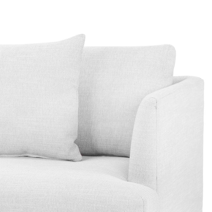 Denmark 4 Seater Fabric Sofa in Light Texture Grey