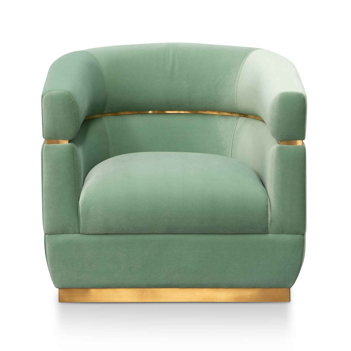 Derick Fabric Lounge Chair - Mint Green