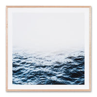 Distant Blue Water Wall Art Print