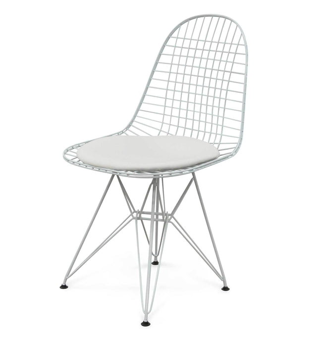 DKR Wire Dining Chair - Emaes Replica - White