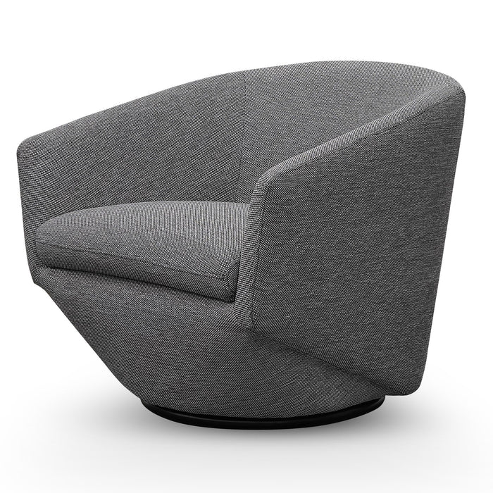 Donna Fabric Lounge Chair - Oslo Grey