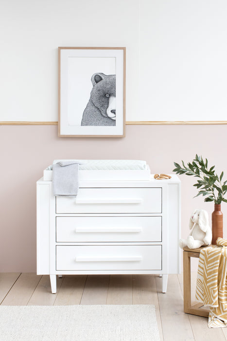Dot Wooden Baby Change Table Dresser - White | Stay At Home Mum
