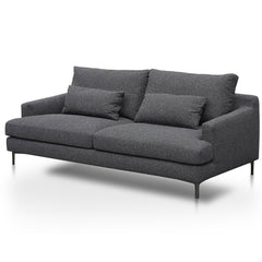 Drema 3 Seater Fabric Sofa - Dark Grey
