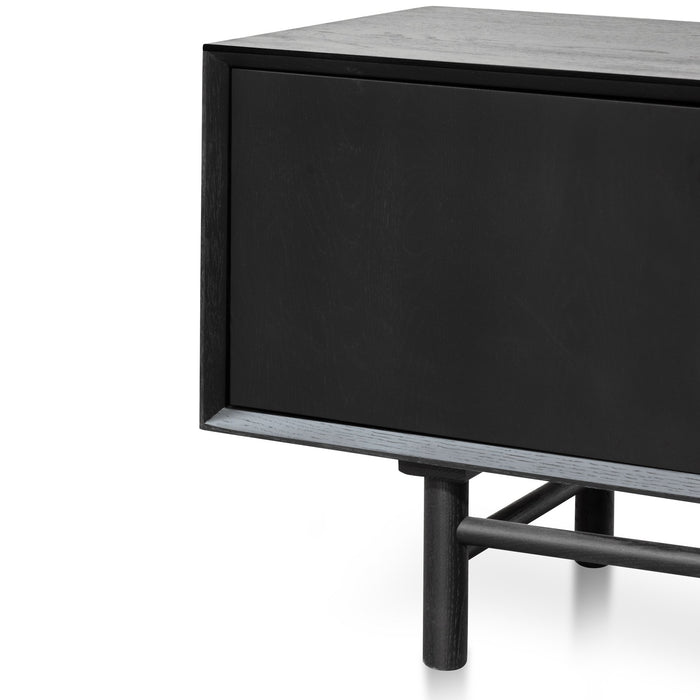 Ducan 2.1m Wooden Entertainment TV Unit - Black