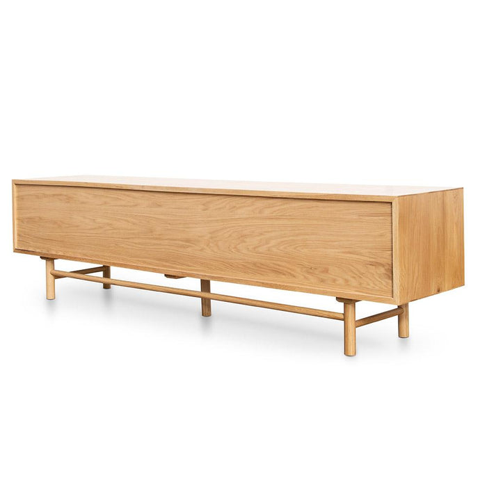 Ducan 2.1m Entertainment TV Unit - Natural Wood