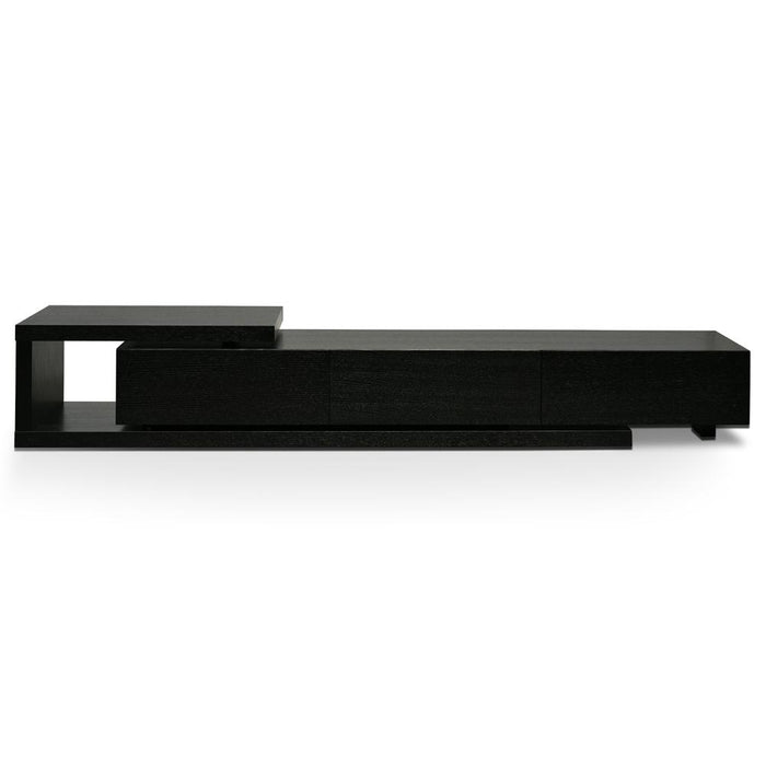 Dwell Scandinavian Lowline 2.4-3.07m Entertainment TV Unit - Black