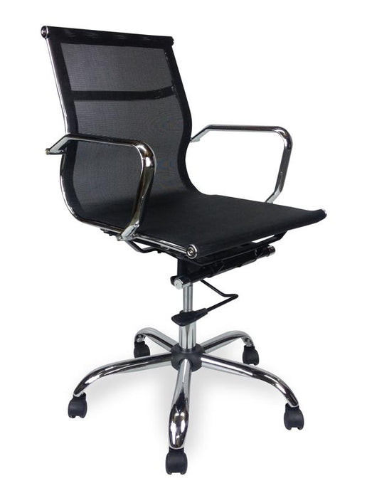 Eames Designer Mesh Boardroom Office Chair - Low Back - Black