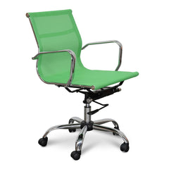 Eames Designer Mesh Boardroom Office Chair - Low Back - Green