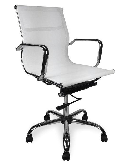 Eames Designer Mesh Boardroom Office Chair - White