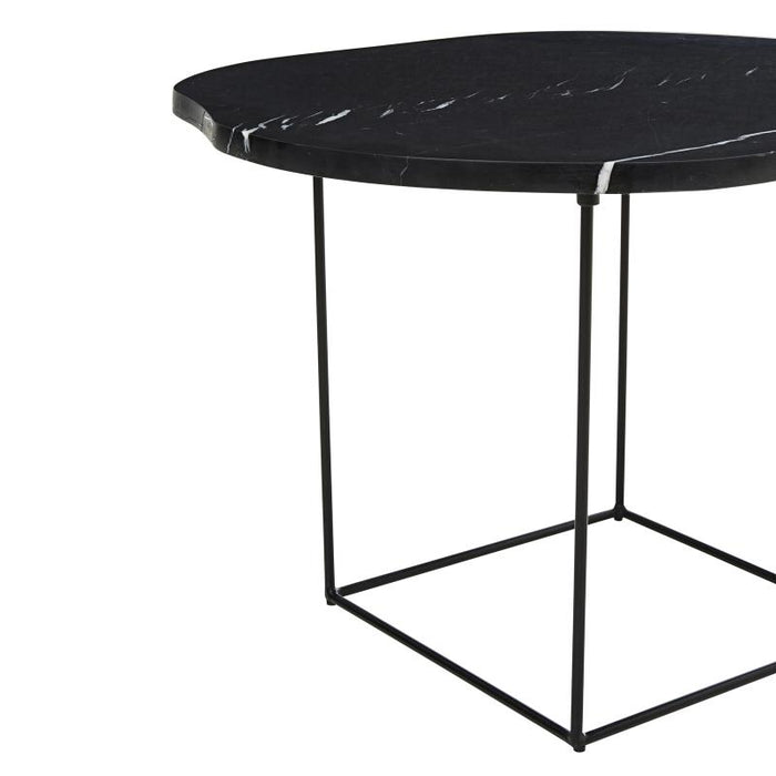 Eden 60cm Organic Marble Coffee Table - Black