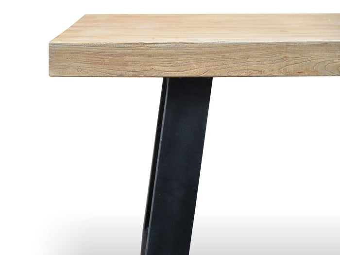 Edwin 1.98m Reclaimed Elm Wood Dining Table
