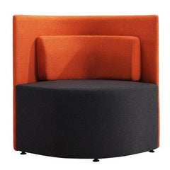 Elias Fabric Lounge Chair - Orange/Charcoal