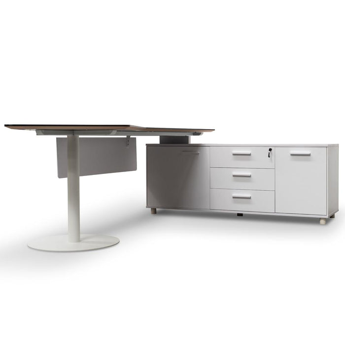 Elite 2.52m Executive Office Desk Right Return - Black