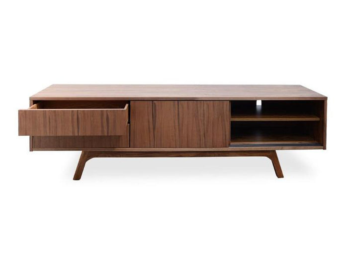 Ella 180cm TV Scandinavian Entertainment Unit - Walnut Veneer