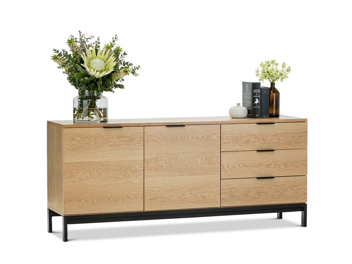 Elliot Oak Veneer Sideboard - Natural