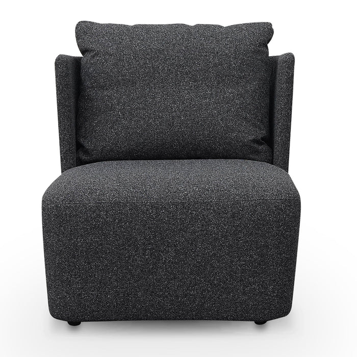 Elvina Fabric Armchair - Dark Grey