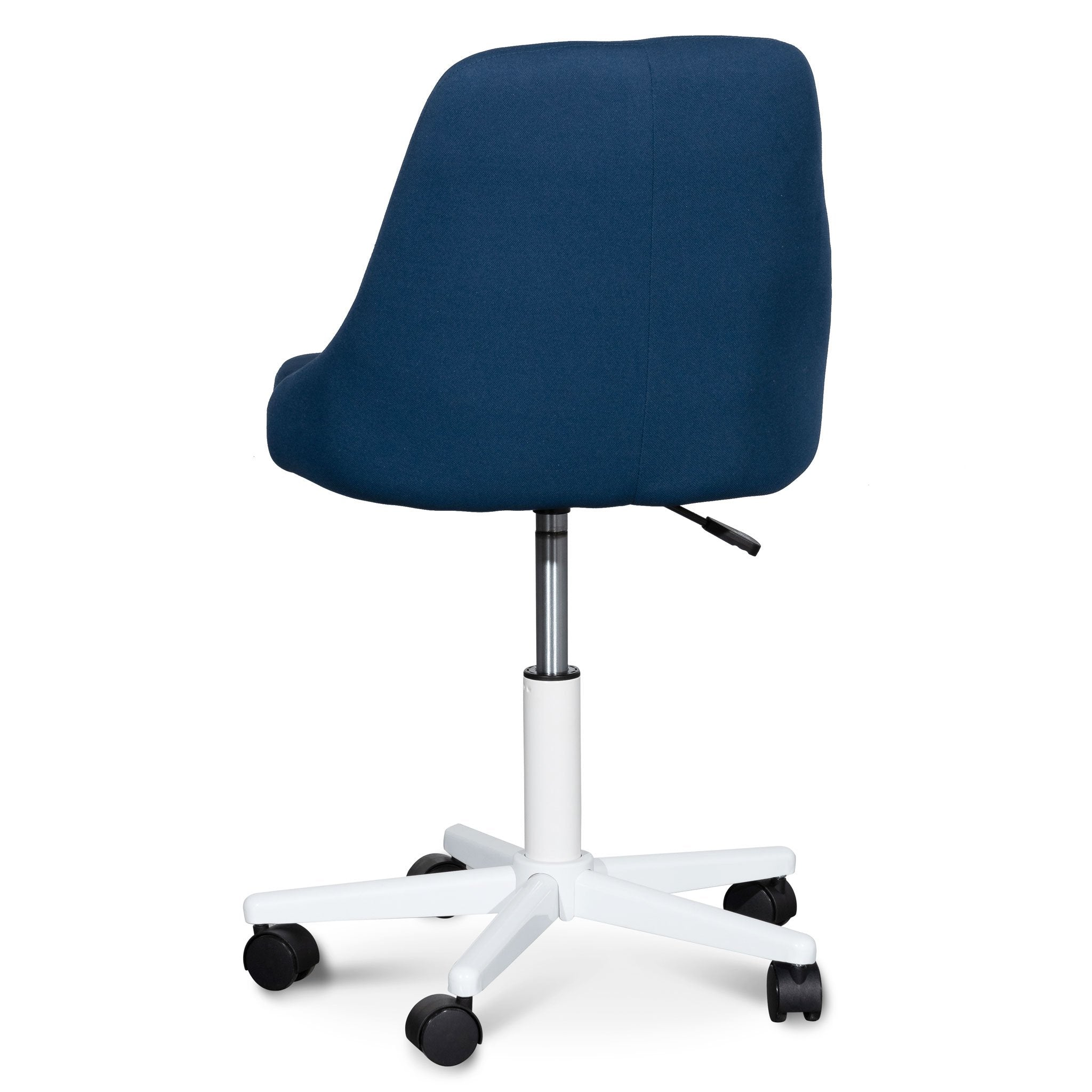 Picture of: Ernesto Space Blue Fabric Office Chair White Base Interior Secrets