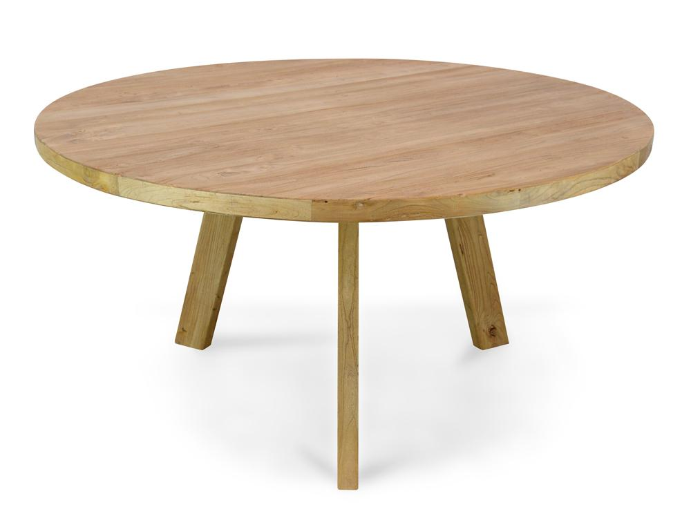 Ethan Reclaimed Elm Wood 1 5m Round Dining Table