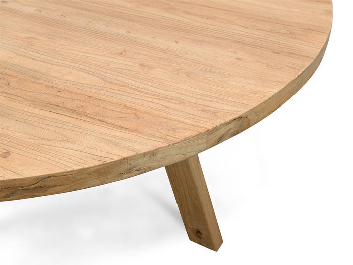 Ethan Reclaimed Elm Wood 1.5m Round Dining Table
