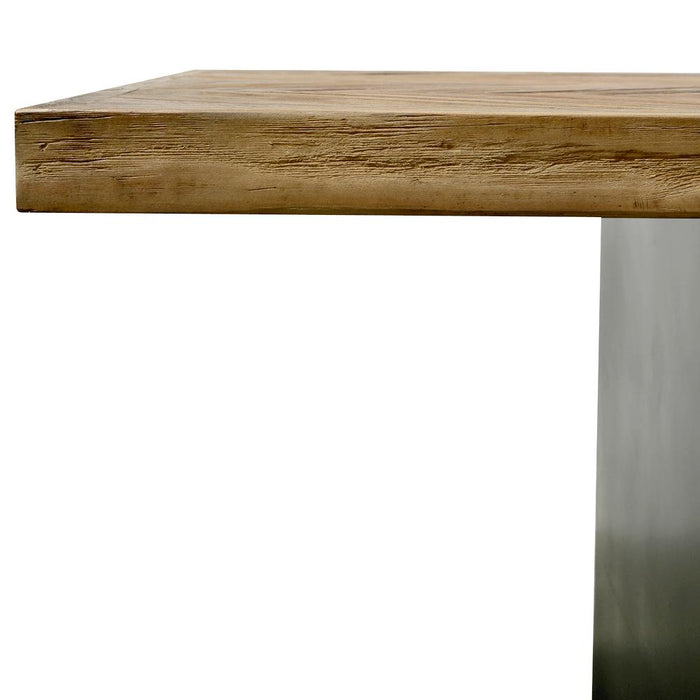 Eva 2.4m Reclaimed Dining Table - Natural - Black