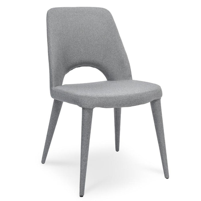 Evelyn Fabric Dining Chair - Coin Grey