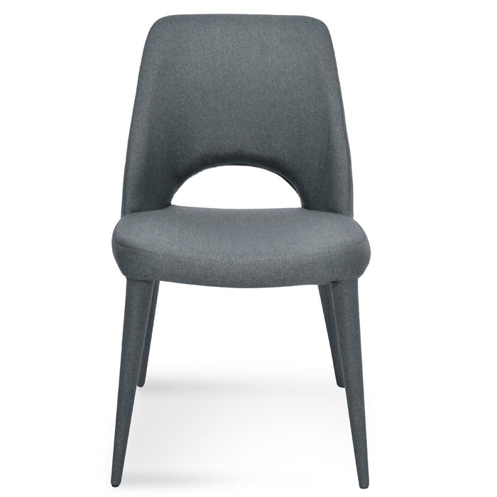 Evelyn Fabric Dining Chair - Gunmetal Grey