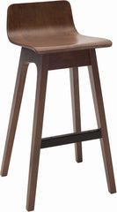 Everly Wooden 77cm Bar Stool - Walnut