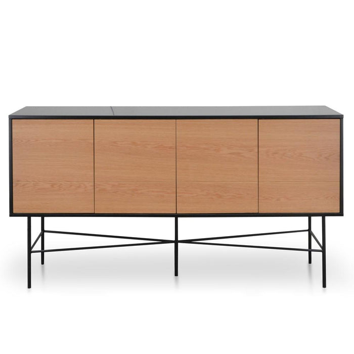 Ex display - Avenue Sideboard - Natural Oak - Matt Black