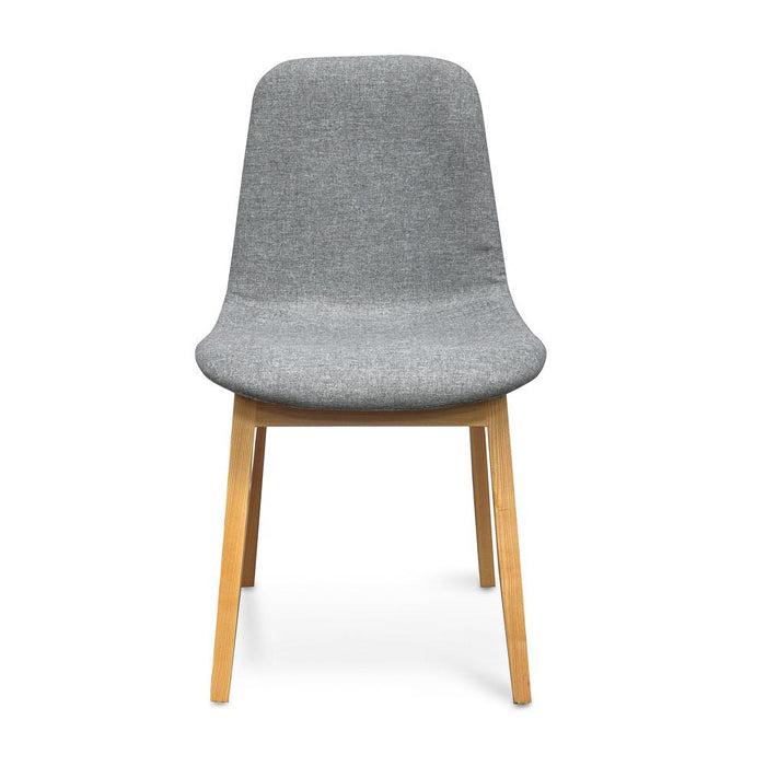 Ex display - Cozy Dining Chair - Light Grey - Natural legs(Sold Out)