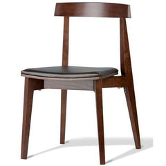 Ex Display - Jira Dining Chair in Walnut with Cushion - Last One