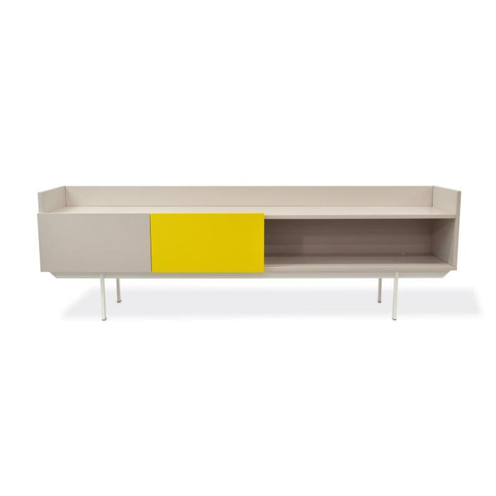Ex display - Morris Lowline 180cm TV Entertainment Unit - Yellow and Grey