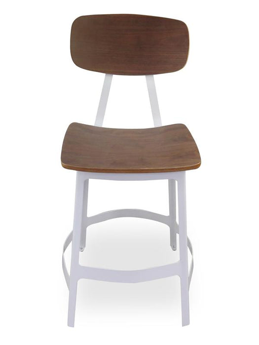 Ex display - Veteran White Indus Bar stool