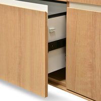 Excel 2 Drawer Filing Cabinet with Cupboard - Natural