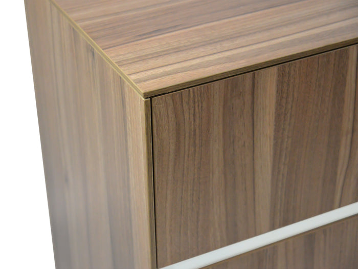 Excel 2 Drawer Filing Cabinet with Cupboard - Walnut