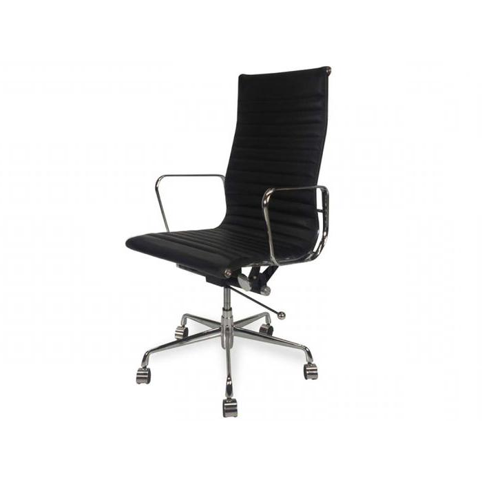 Floyd High Back Office Chair - Black Leather