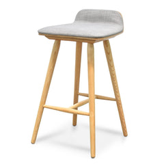 Finn 65cm Bar Stool - Grey - Natural