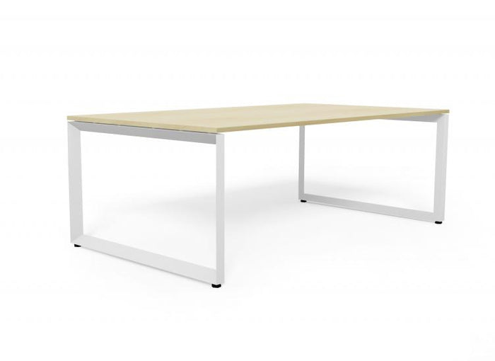 Forum 1.5 Natural Office Desk - White Legs