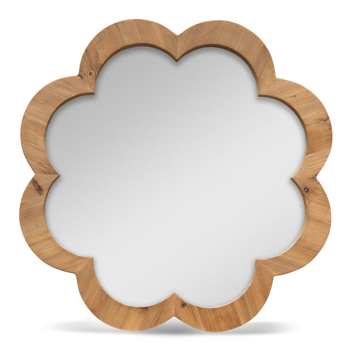 Francis 90cm Recycled Fir Round Mirror