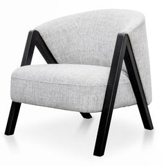Freddie Armchair - Light Spec Grey - Black Oak
