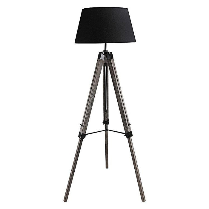 Fremont Tripod Floor Lamp Black Shade - Antique Grey