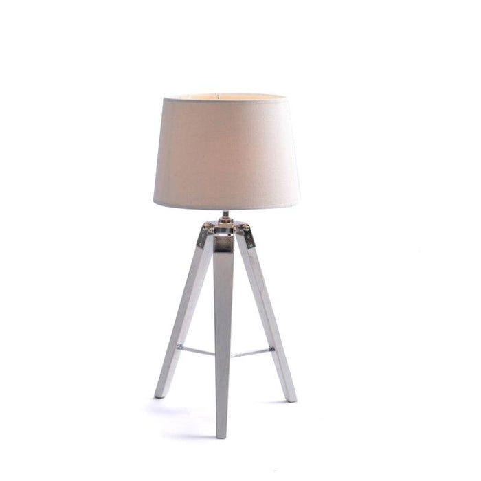 Fremont Tripod Table Lamp White Shade - White