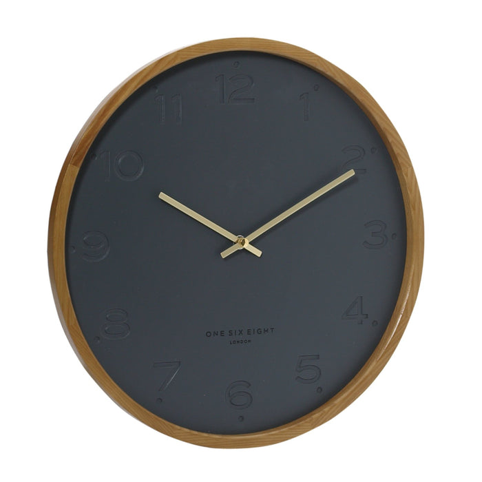 Fiona 35cm Silent Wall Clock - Charcoal