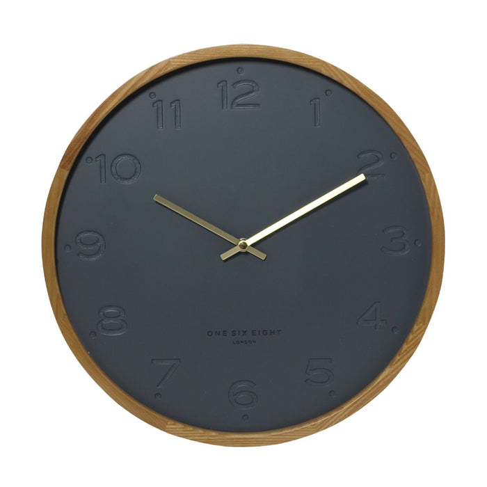 Fiona 50cm Wall Clock - Charcoal