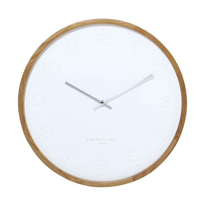 Fiona 50cm Wall Clock - White