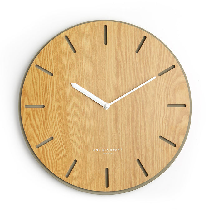 Gwen 35cm Silent Concrete Clock - Natural