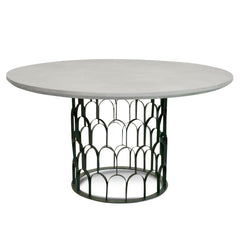 Gatsby 1.4M Round Dining Table - Grey - Black