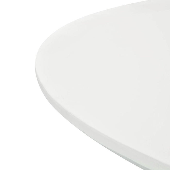 Gatsby 1.4M Round Dining Table - White - Black