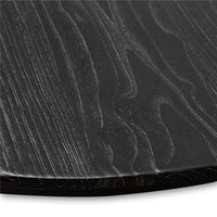 Gene Reclaimed Wood 140cm Round Dining Table - Rustic Black