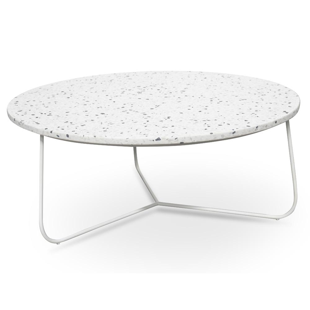finest selection f960b e4edd Glacier Terrazzo 80cm Coffee Table - White Base