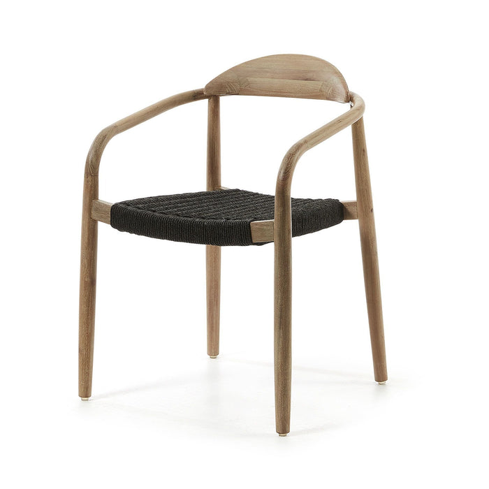 Glynis Eucalyptus Timber Dining Chair -  Black